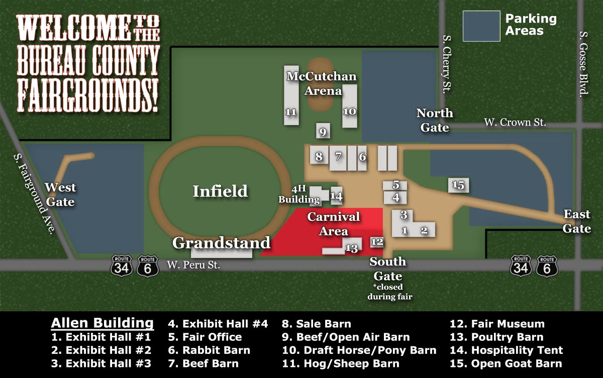 Map of Bureau County Fairgrounds